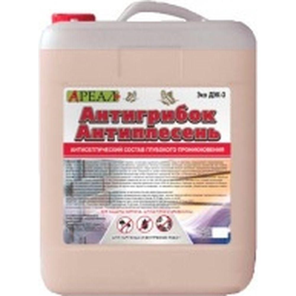 Антисептическая пропитка по бетону Ареал+ Антигрибок Антиплесень 10л А-417