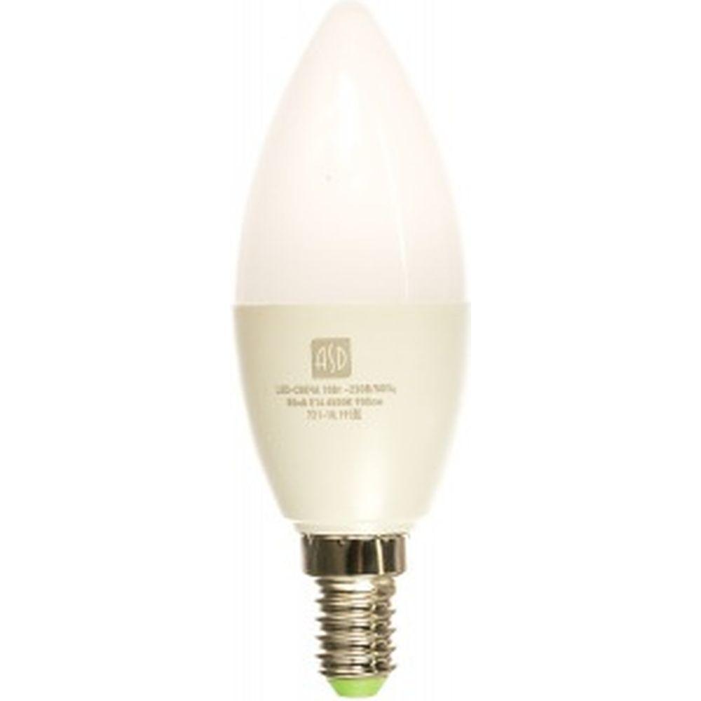 ASD Лампа сд LED-СВЕЧА-std 10Вт 230В Е14 6500К 900Лм 4690612015521