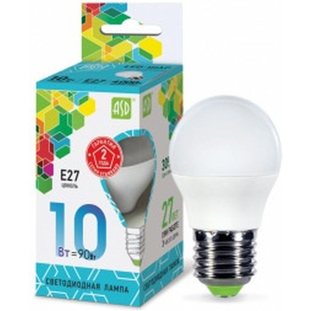 ASD Лампа сд LED-ШАР-std 10Вт 230В Е27 4000К 900Лм 4690612015484