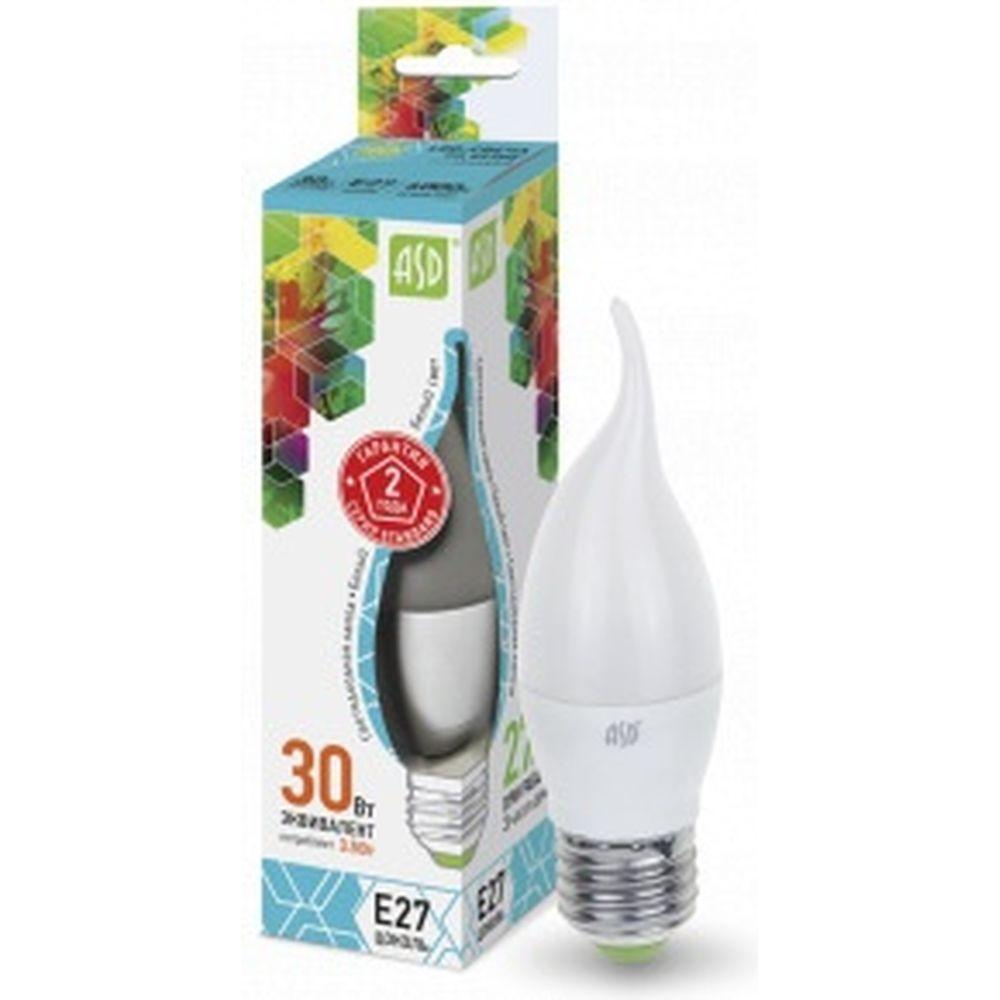 ASD Лампа сд LED-СВЕЧА НА ВЕТРУ-std 3.5Вт 230В Е27 4000К 320Лм 4690612004761