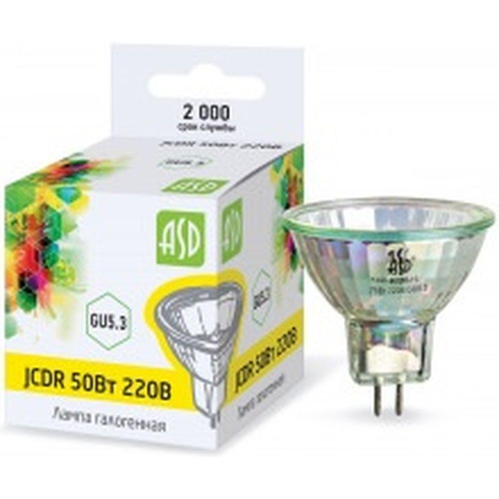 Галогенная лампа ASD JCDR, 50Вт, 230В, GU5.3, 900Лм 4607177993256