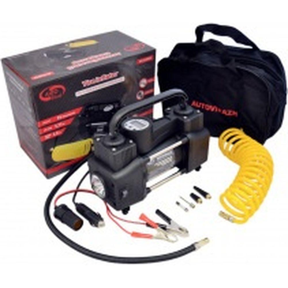 Двухцилиндровый компрессор 95 л/мин с цифр. маном. и функц автостоп. AUTOVIRAZH AV-010999