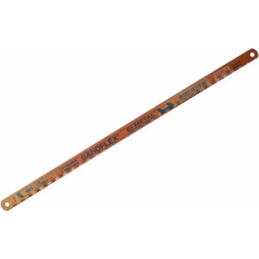 Биметаллическое полотно SANDFLEX (300x13x0.65 мм; 18 зуб/дюйм) для ручных ножовок BAHCO 3906-300-18-100