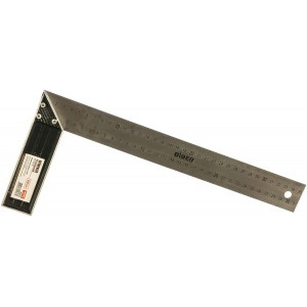 Cтолярный угольник из нержавеющей стали с гравировкой, 350 мм Biber ПРОФИ 40635 тов-093467