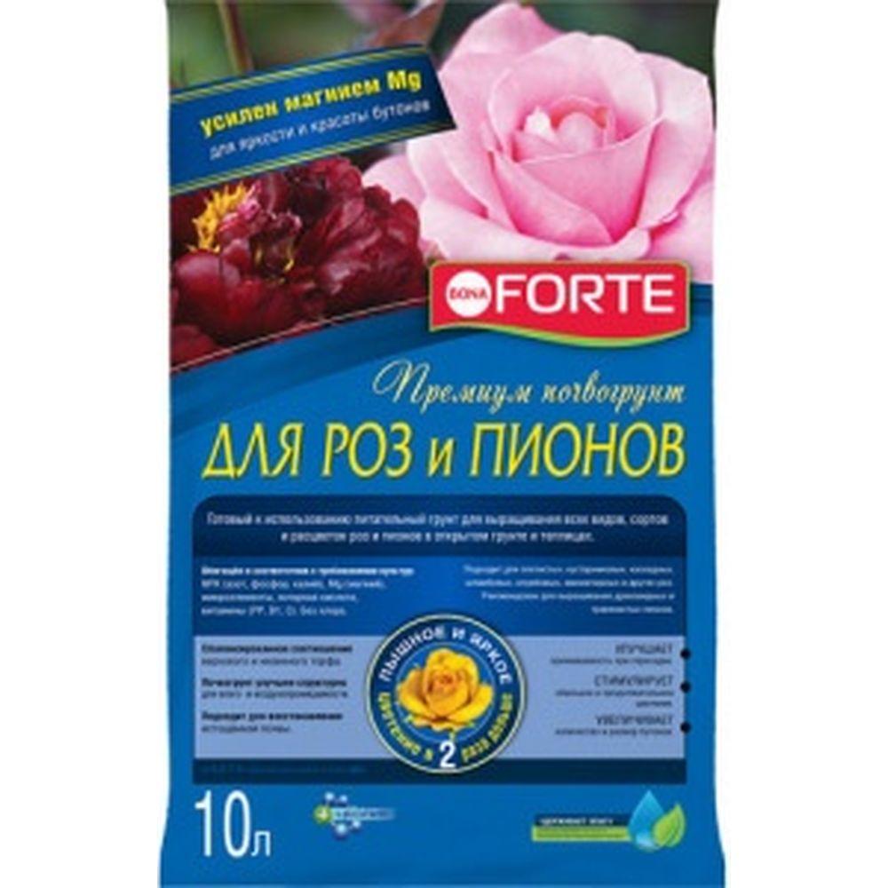 Грунт для роз и пионов (10 л) Bona Forte BF29010111