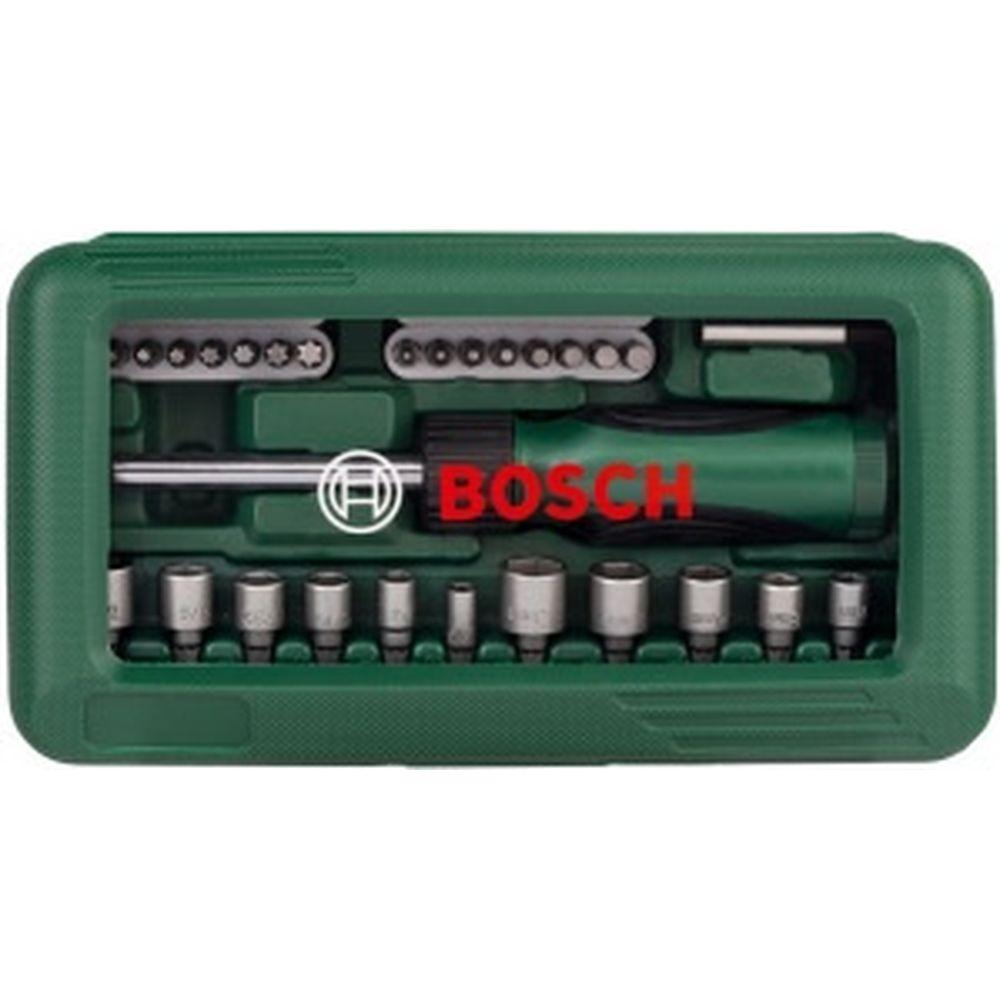 Набор бит и торцевых ключей с отверткой (46 шт.) Bosch 2.607.019.504 152227