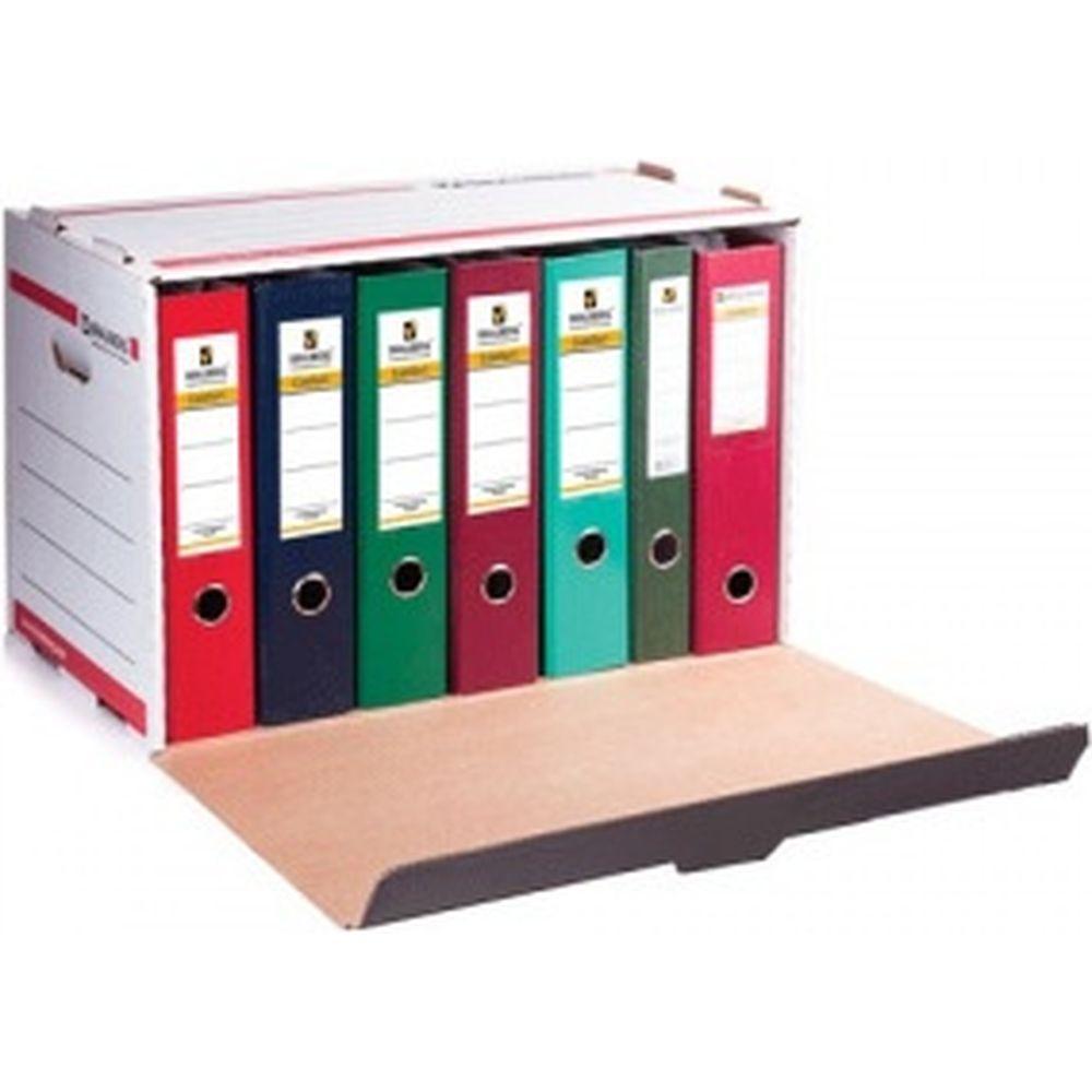 Архивный короб для регистраторов/накопителей, 33,8x52,5x30,6 см, фронтальная загрузка, BRAUBERG 126522