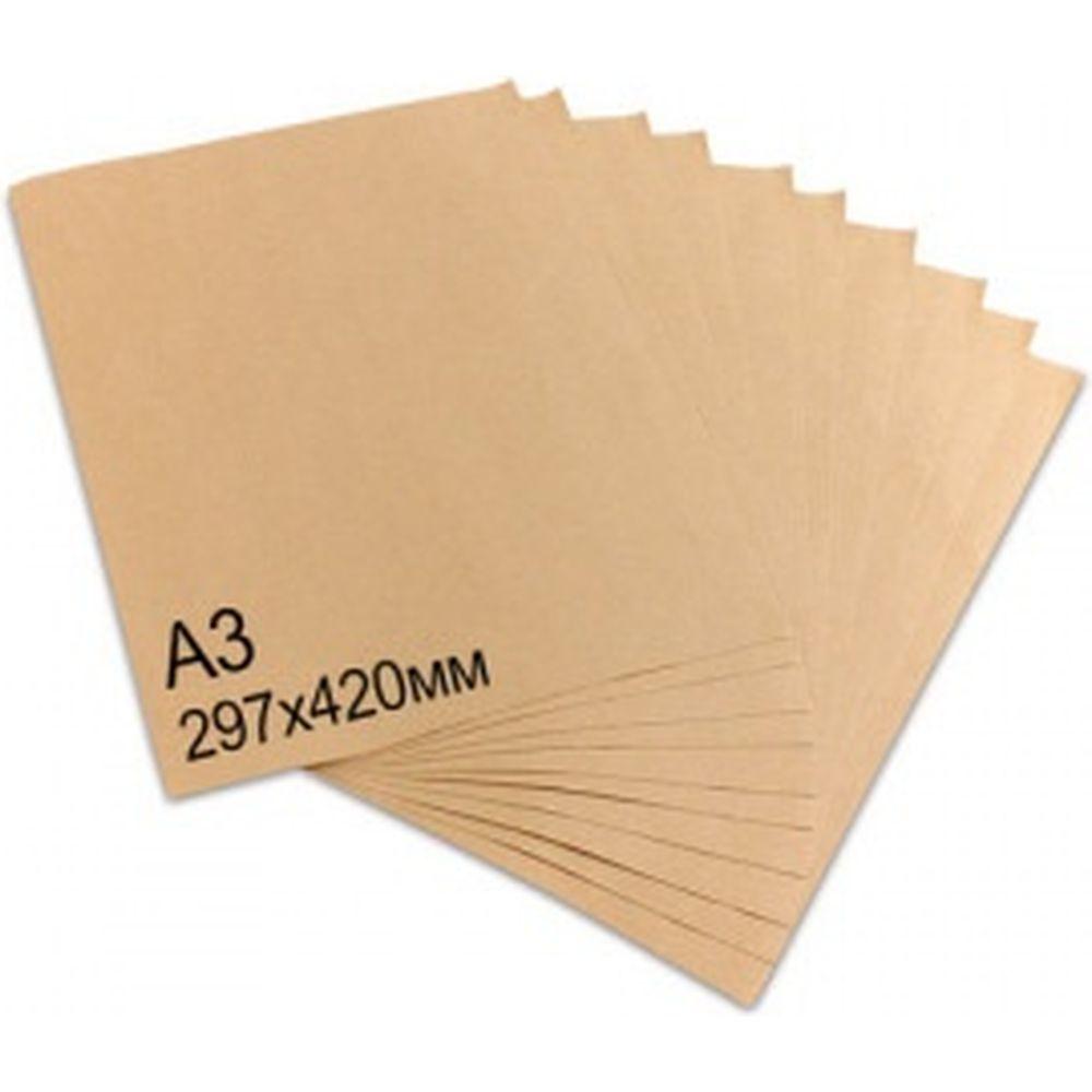 Крафт-бумага в листах А3, 297х420 мм, плотность 78 г/м2, 100 листов, BRAUBERG 440149
