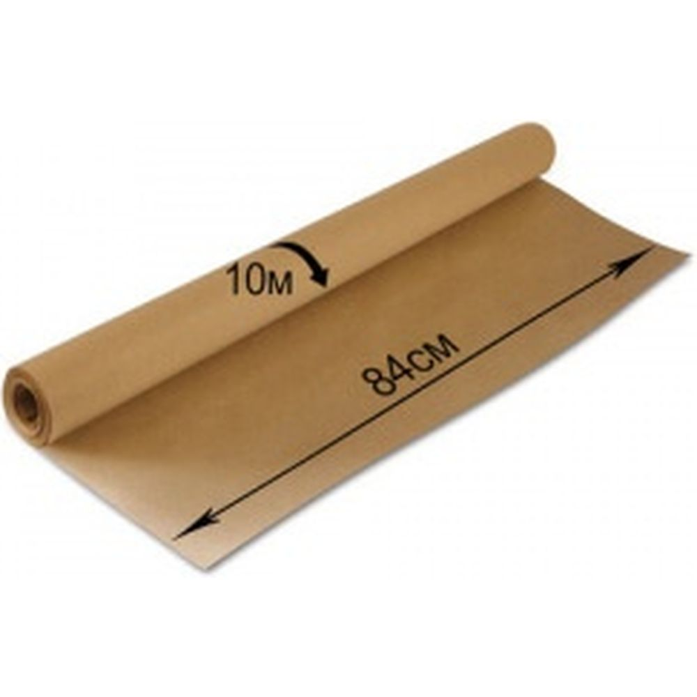 Крафт-бумага в рулоне, 840 мм х 10 м, плотность 78 г/м2, BRAUBERG 440145