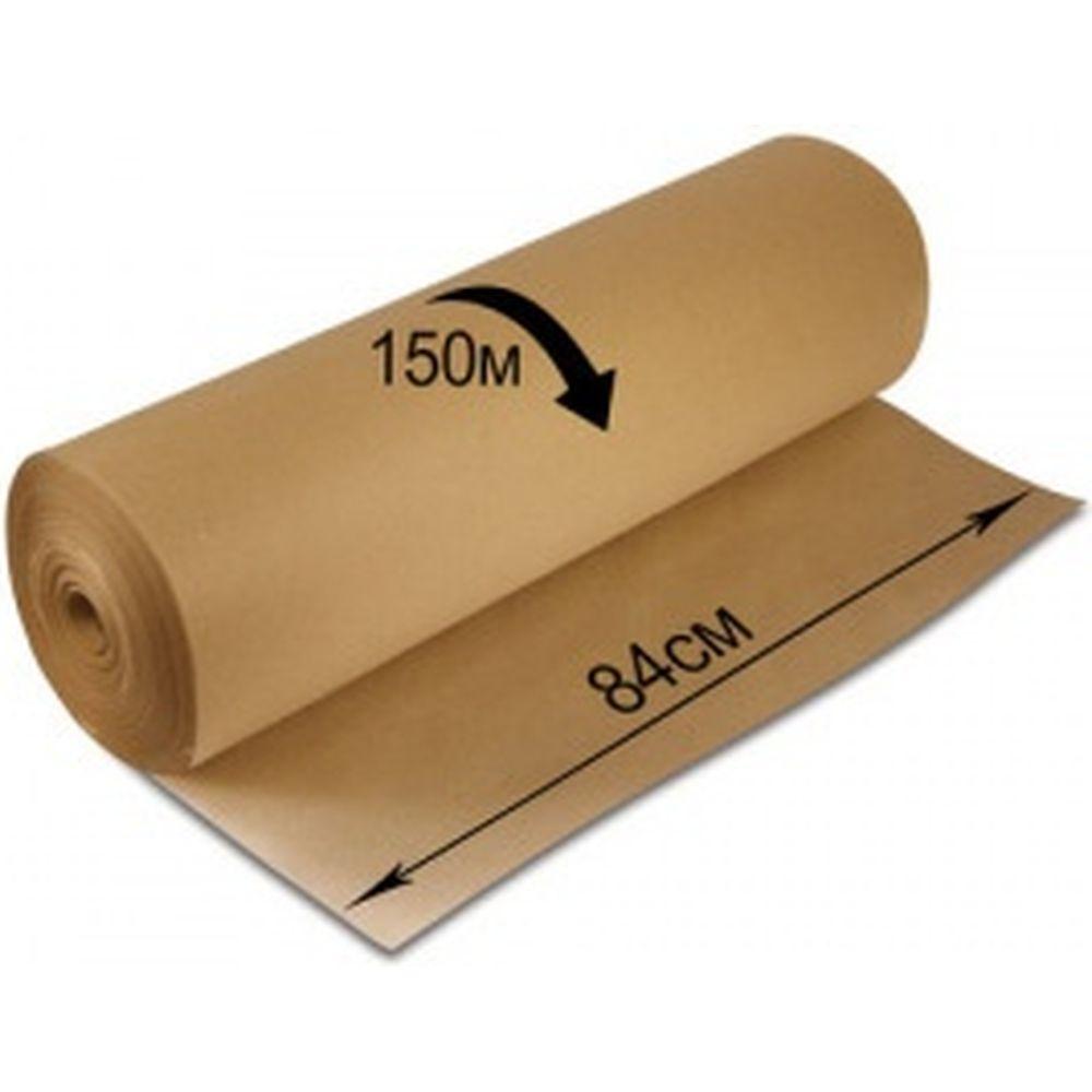 Крафт-бумага в рулоне, 840 мм х 150 м, плотность 78 г/м2, BRAUBERG 440147