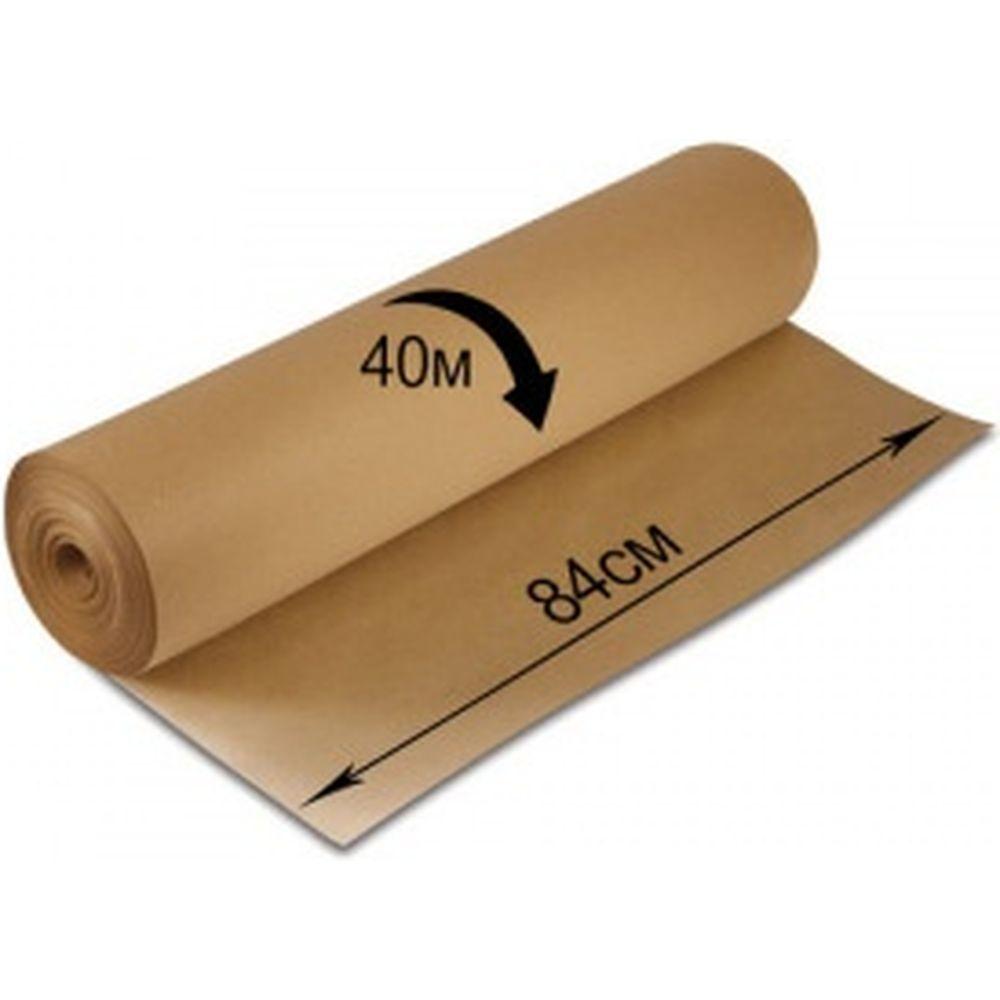 Крафт-бумага в рулоне, 840 мм х 40 м, плотность 78 г/м2, BRAUBERG 440146