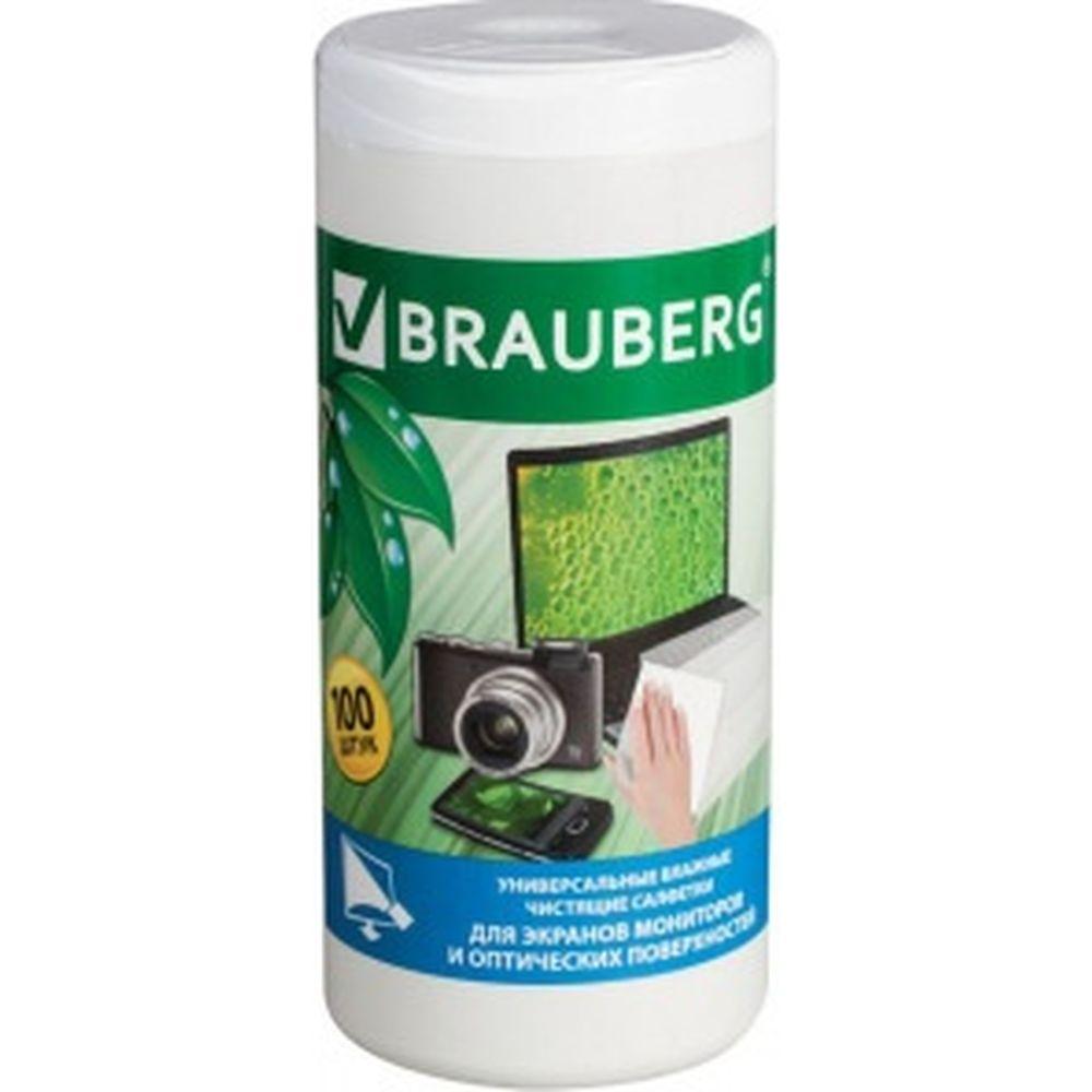 Влажные чистящие салфетки для экранов мониторов и оптических поверхностей BRAUBERG 510122