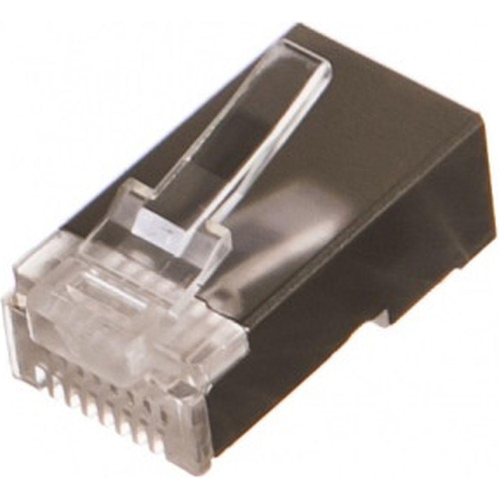 Вилка Cablexpert RJ-45 8P8C PLUG5SP/10 универсальн кат.5e экранирован контакты 30мкр 10шт PLUG5SP/10