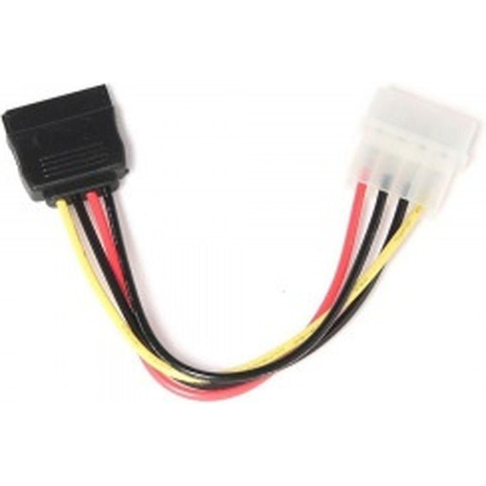 Кабель питания Cablexpert SATA, 15см, molex, 4pin/sata, 15pin, пакет CC-SATA-PS