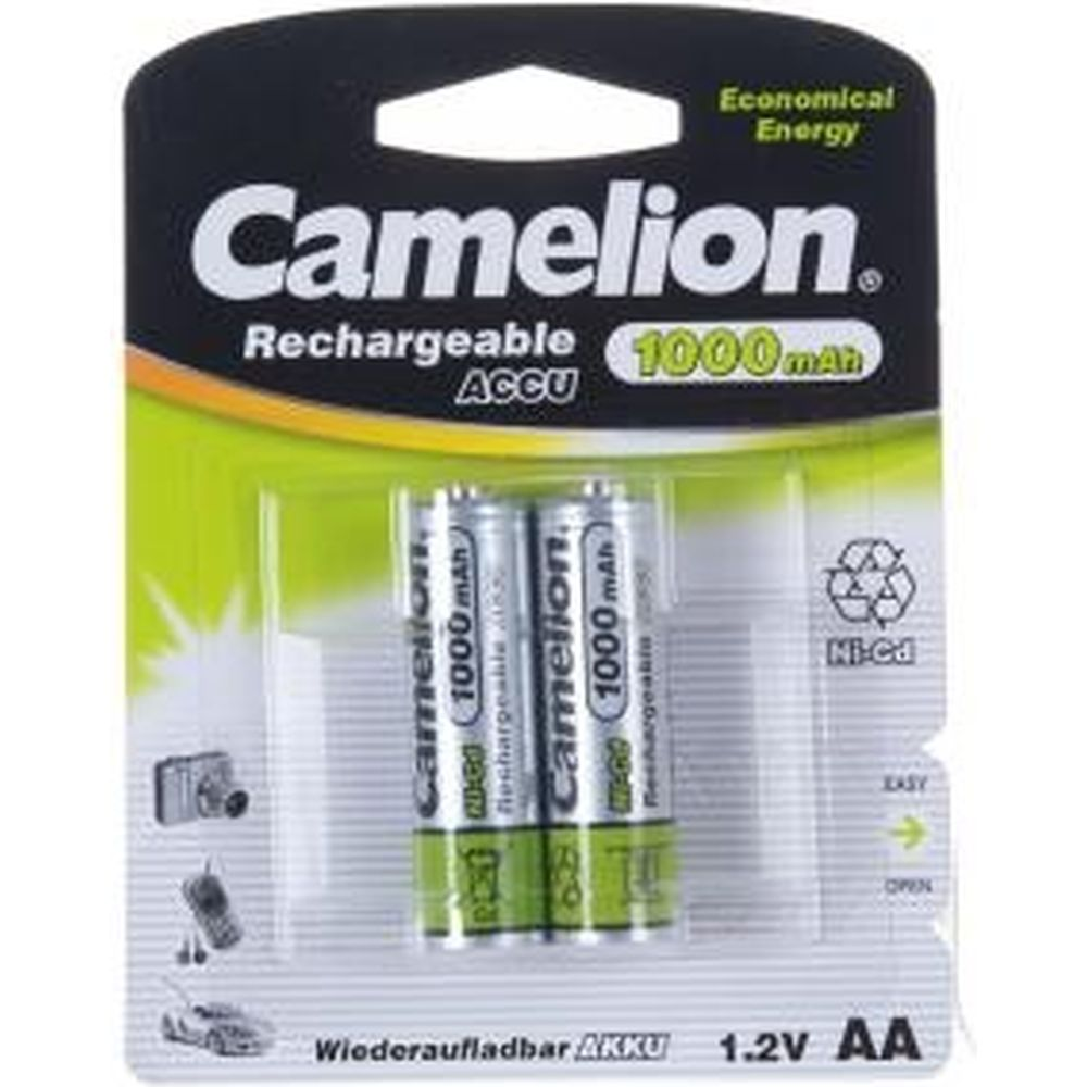 Аккумулятор 1.2В Camelion, AA-1000mAh Ni-Cd BL-2, 6181