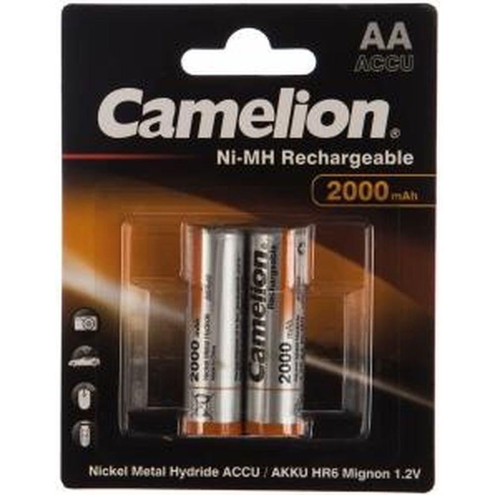 Аккумулятор 1.2В Camelion AA-2000mAh Ni-Mh BL-2, 3504