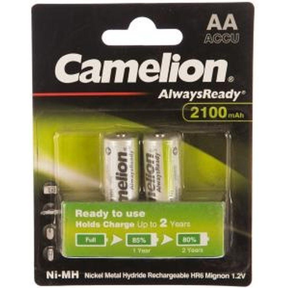 Аккумулятор 1.2В Camelion AA- 2100mAh Ni-Mh Always Ready BL-2, 7966