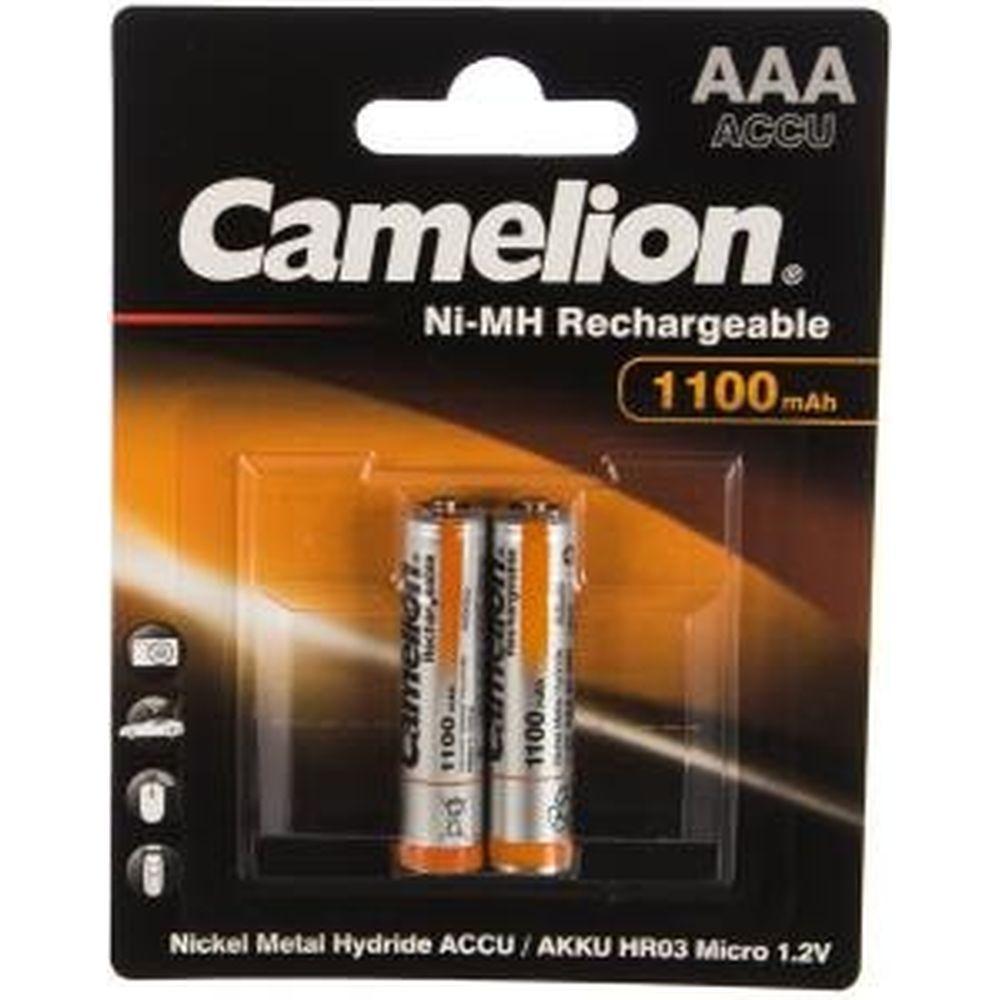 Аккумулятор Camelion 1.2В AAA-1100mAh Ni-Mh BL-2, 7372