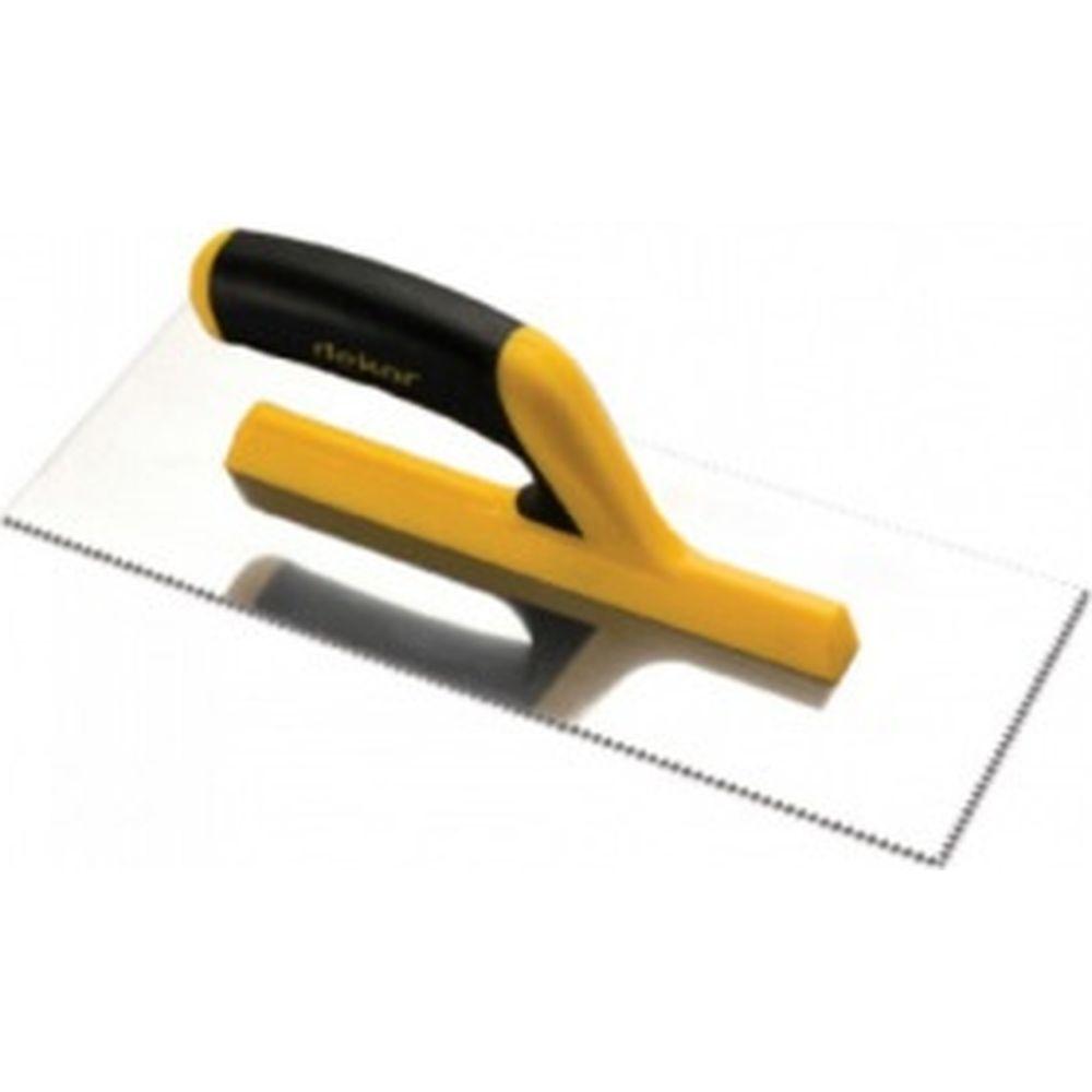 Зубчатая гладилка DEKOR HASSAN 115х295мм, треугольные зубы 2х3,6мм пластиковая ручка 131