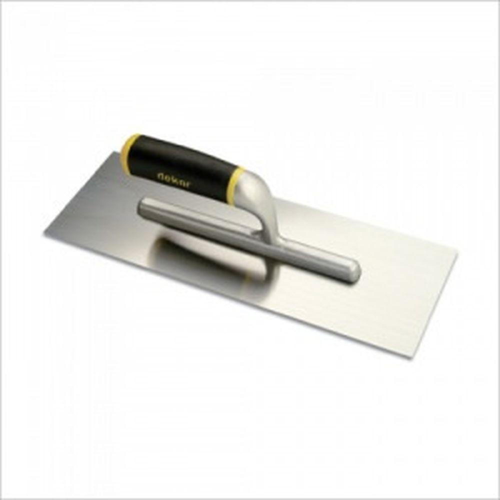 Гладилка DEKOR прямая, нержавеющая сталь 120х350 мм алюминиевая ручка 533