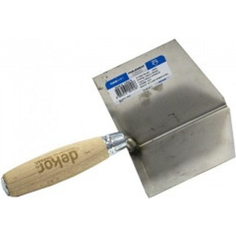 Гладилка для выведения внутренних углов DEKOR нержавеющая сталь, деревянная ручка 101