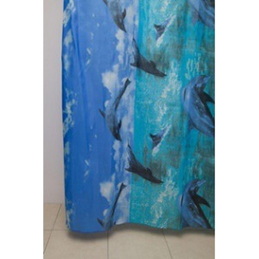 Штора для ванной Delphinium WS-817 SS-271 дельфины, 180x200 104078