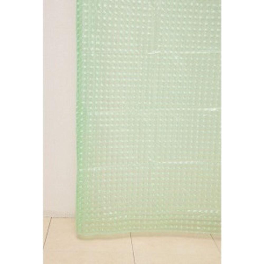 Штора для ванной Delphinium А-023 3D 8000 зеленая, 180х180 104083