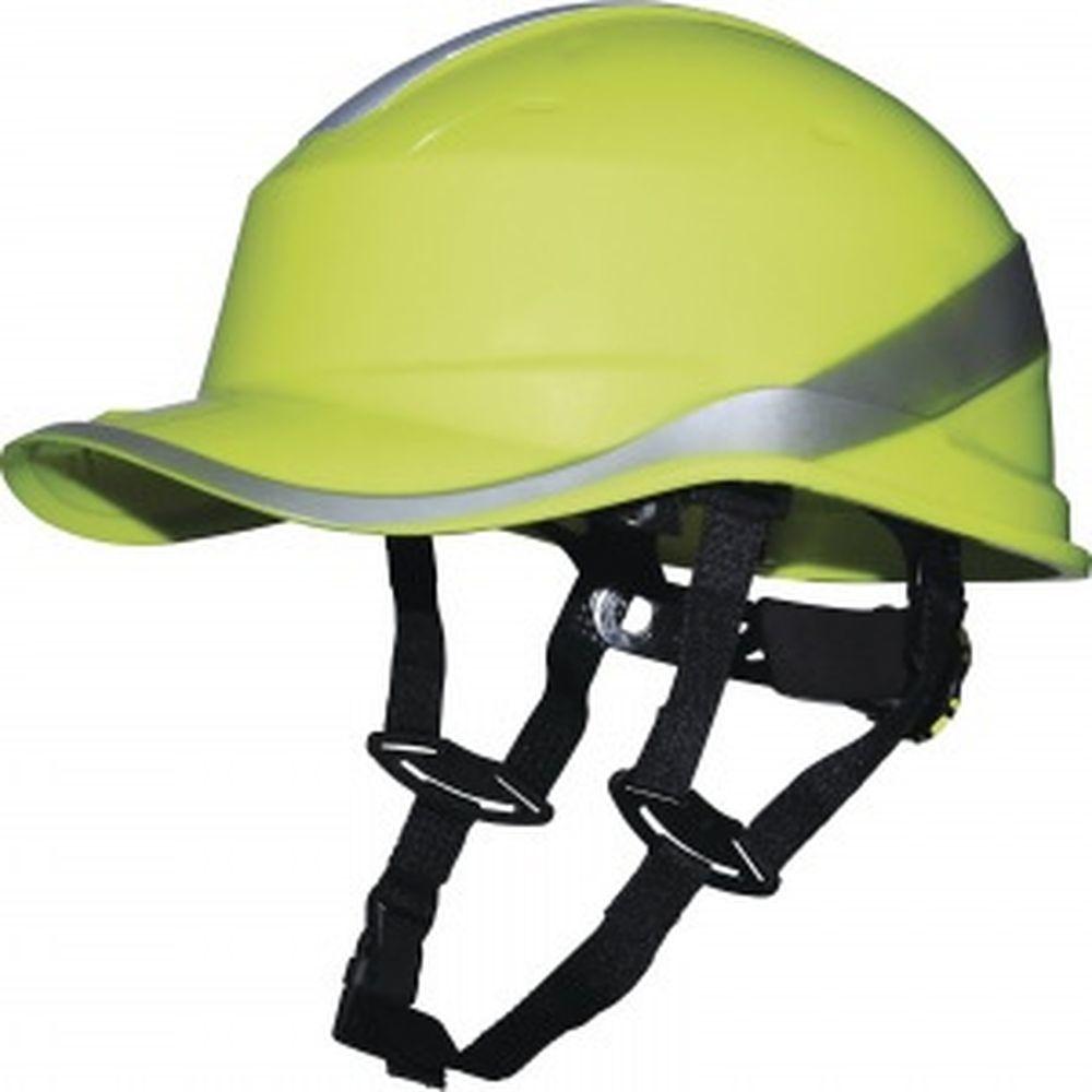 Защитная каска из ABS Delta Plus BASEBALL DIAMOND V UP лимонного цвета DIAM5UPJAFL