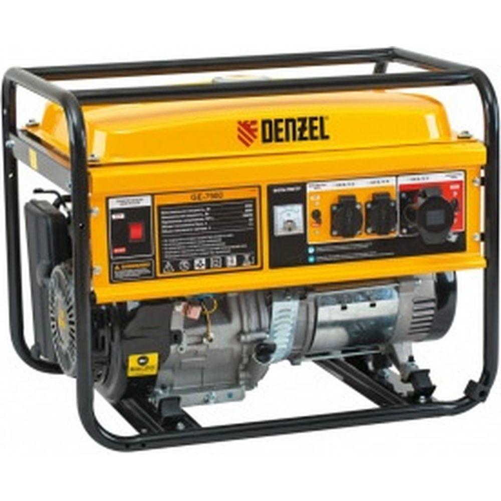 Бензиновый генератор 6,5 кВт, 220В/50Гц, 25 л DENZEL GE 7900 94638