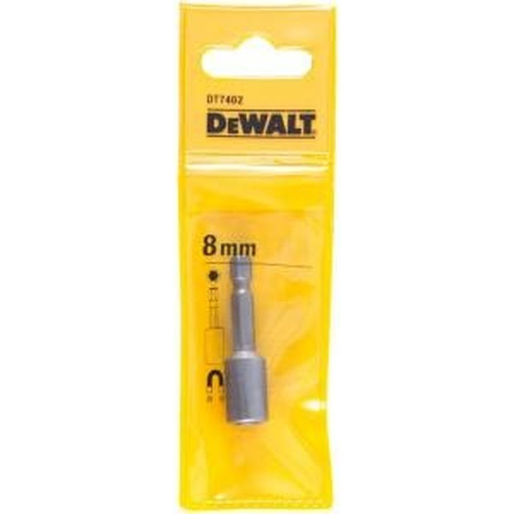 Торцевая головка 6-гранная (8 мм; 1/4) Dewalt DT 7402