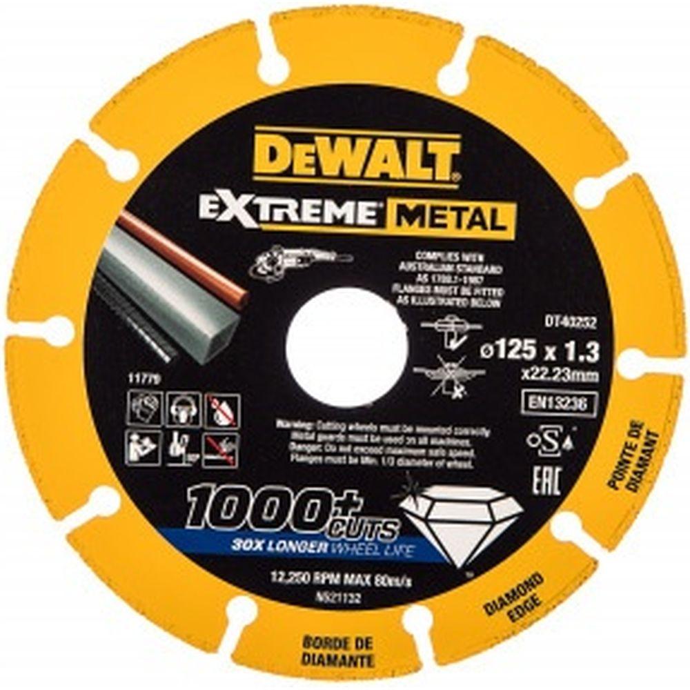 Алмазный диск отрезной по металлу 125х22.2 мм DEWALT DT40252