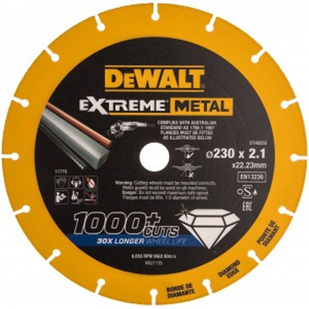 Алмазный диск отрезной по металлу 230x22.2 мм DEWALT DT40255