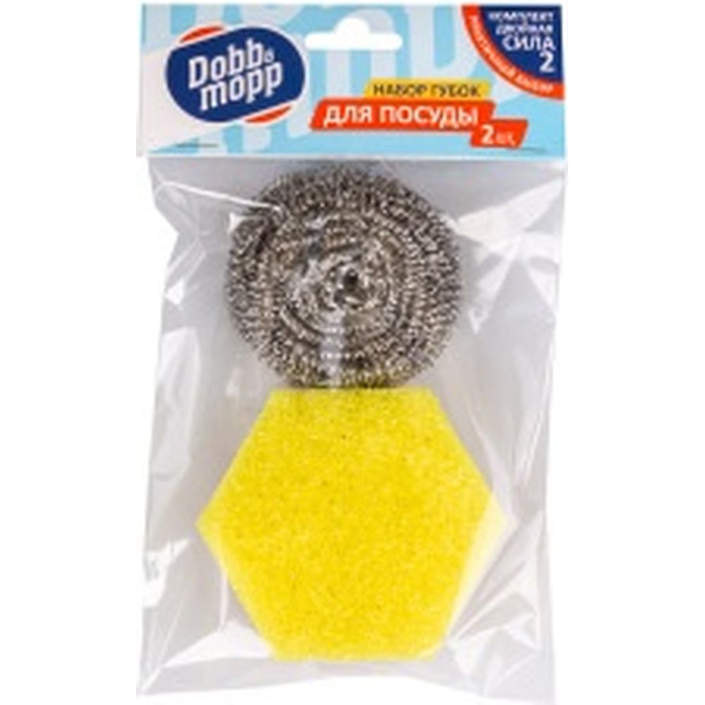 Набор губок из поролона и металла DOBB&MOPP Тандем 2 шт 3.3.02.110