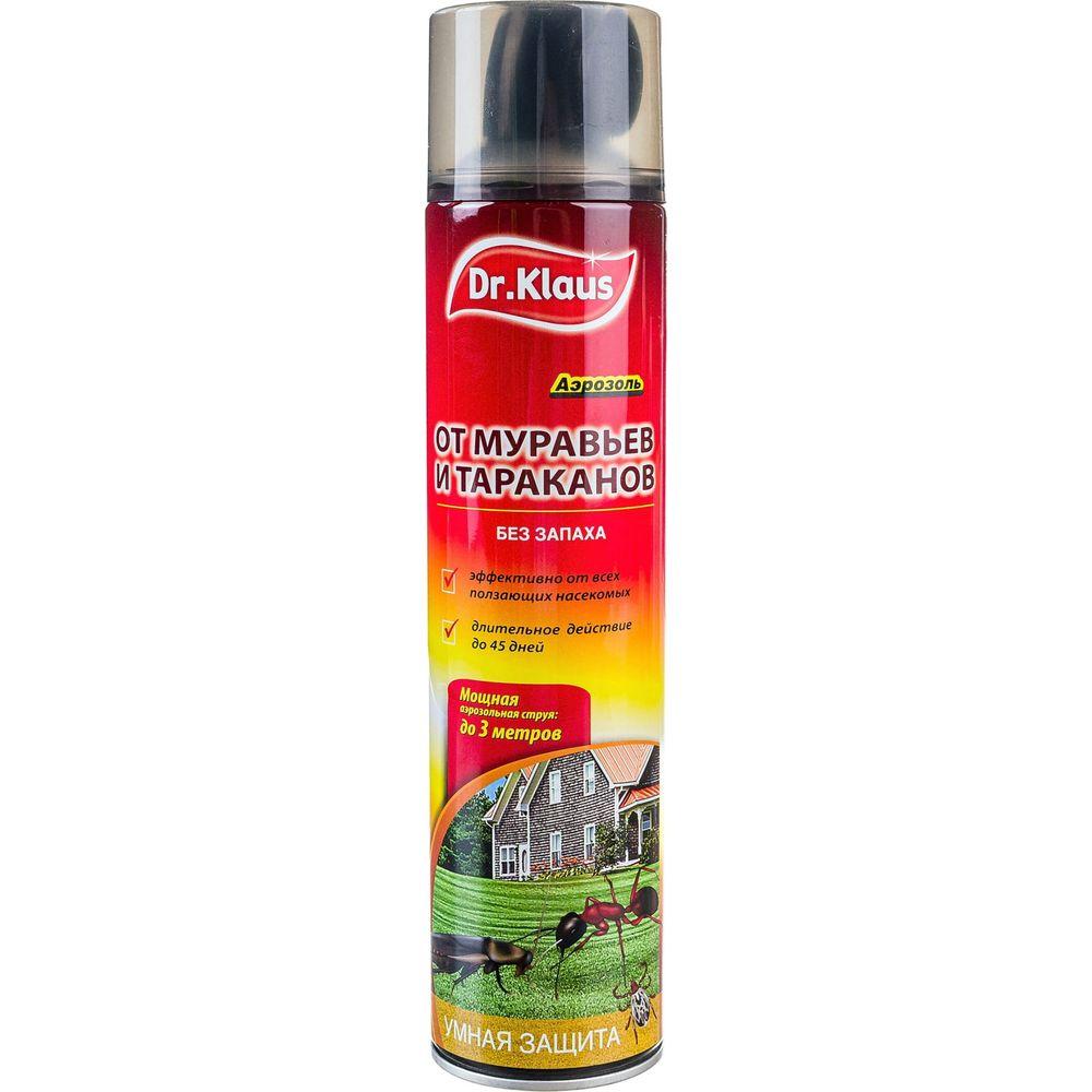 Аэрозоль от муравьев тараканов и других ползающих насекомых Dr.Klaus 600 мл DK06250011