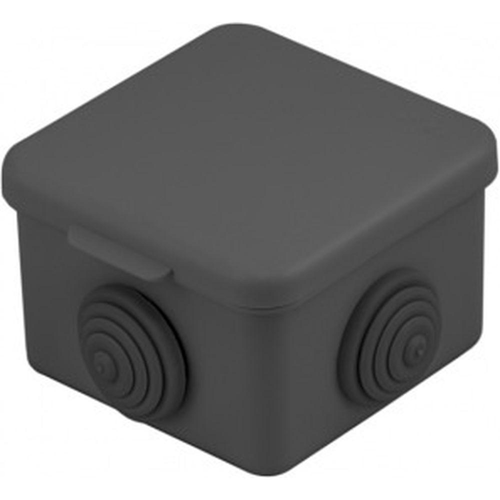 Распаячная коробка EKF КМР-030-036, 4 мембранных ввода 65х65х50 чёрная  SQplc-kmr2-030-036-b