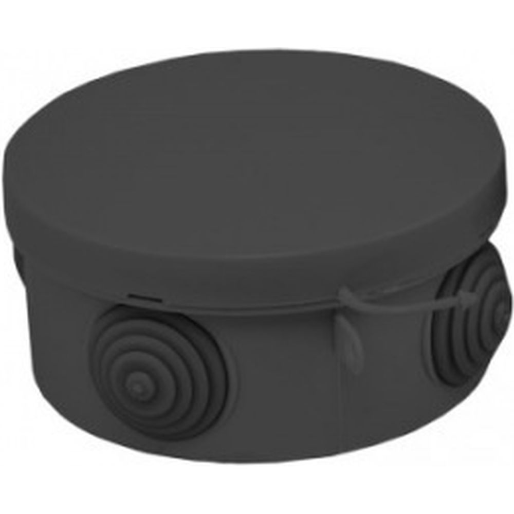 Распаячная коробка EKF КМР-040-039 с крышкой, 85х40мм, 4 мембраны ввода, чёрная, IP54, SQ plc-kmr-040-039-b