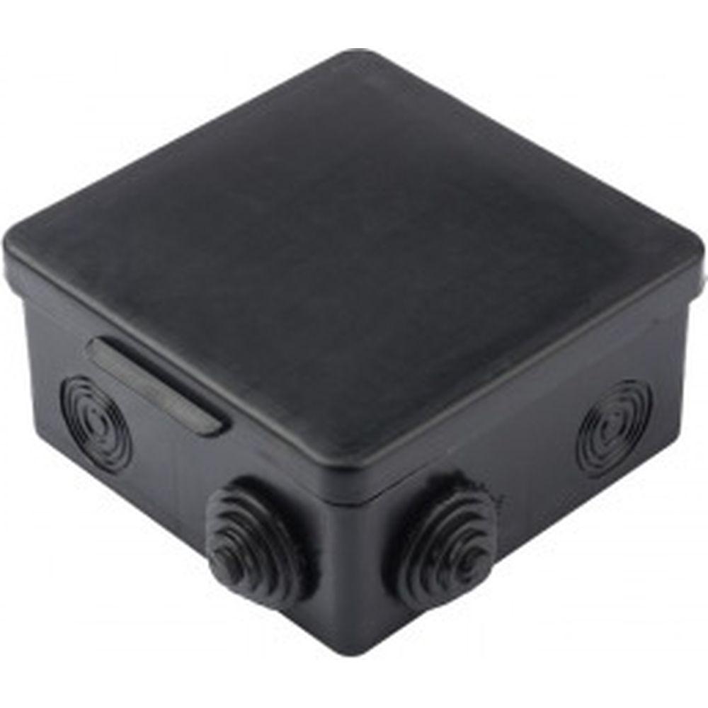 Распаячная коробка EKF КМР-030-014 с крышкой 8 мембранных вводов, IP54, чёрная SQplc-kmr-030-014-b
