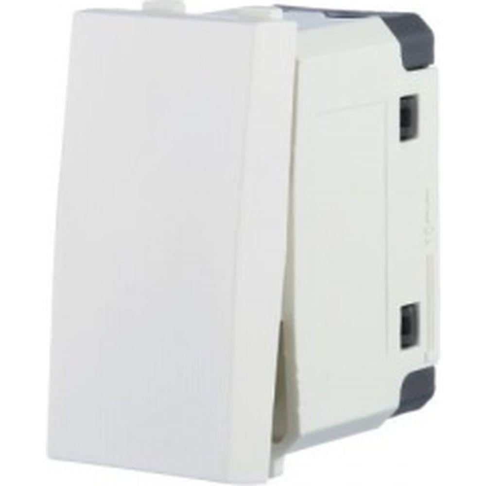 1-клавишный выключатель Экопласт 45х22. 5 схема 1 16 A. 250 B белый LK45 850104-1