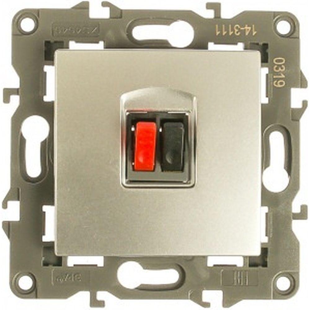 Аудиорозетка ЭРА Elegance IP20, алюминий 14-3111-03 Б0034322
