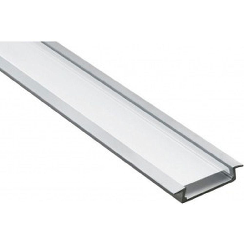Алюминиевый встраиваемый широкий профиль, серебро Feron CAB252 10293