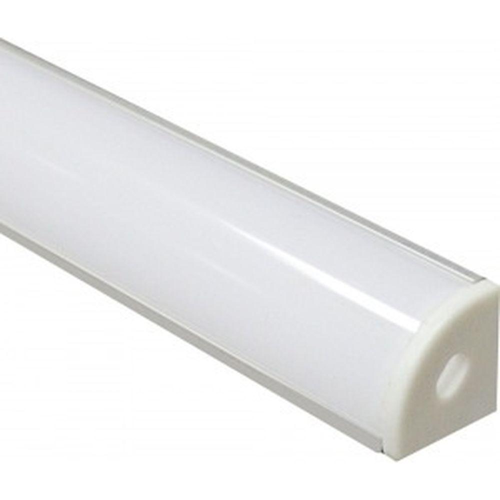 Алюминиевый угловой круглый профиль, серебро Feron CAB280 10299