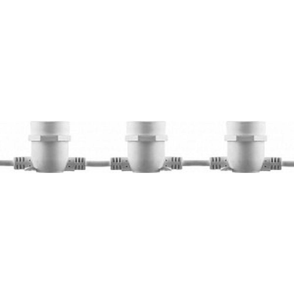 Гирлянда FERON 230V 10 E27 белый, шаг 50cm, IP 65, 8м +3м шнур, CL50-8 29884