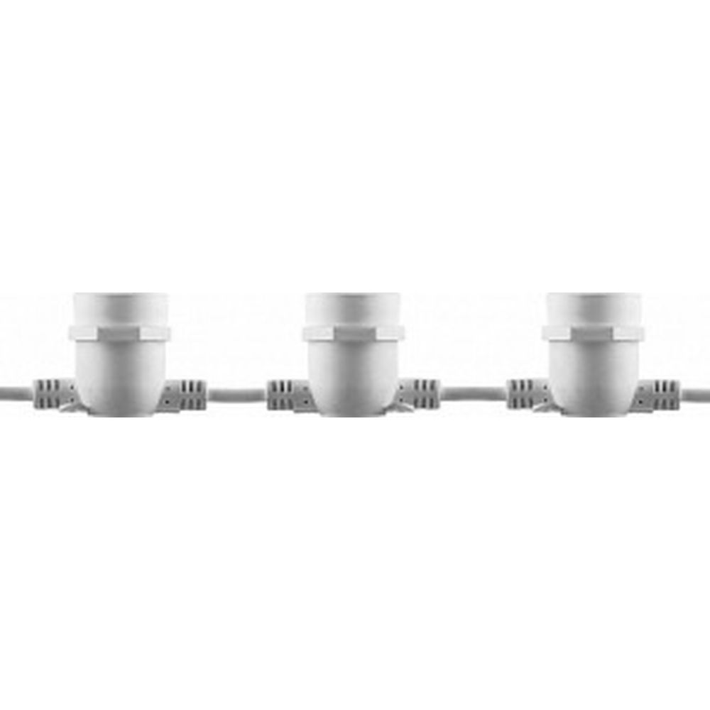 Гирлянда FERON 230V 20 E27 белый, шаг 50cm, IP 65, 13м +3м шнур, CL50-13 29886