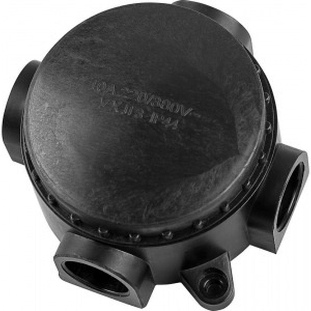 Монтажная разветвительная коробка FERON 380V, 110х48х110, черный, КЭМ 1-10-4Б 29850