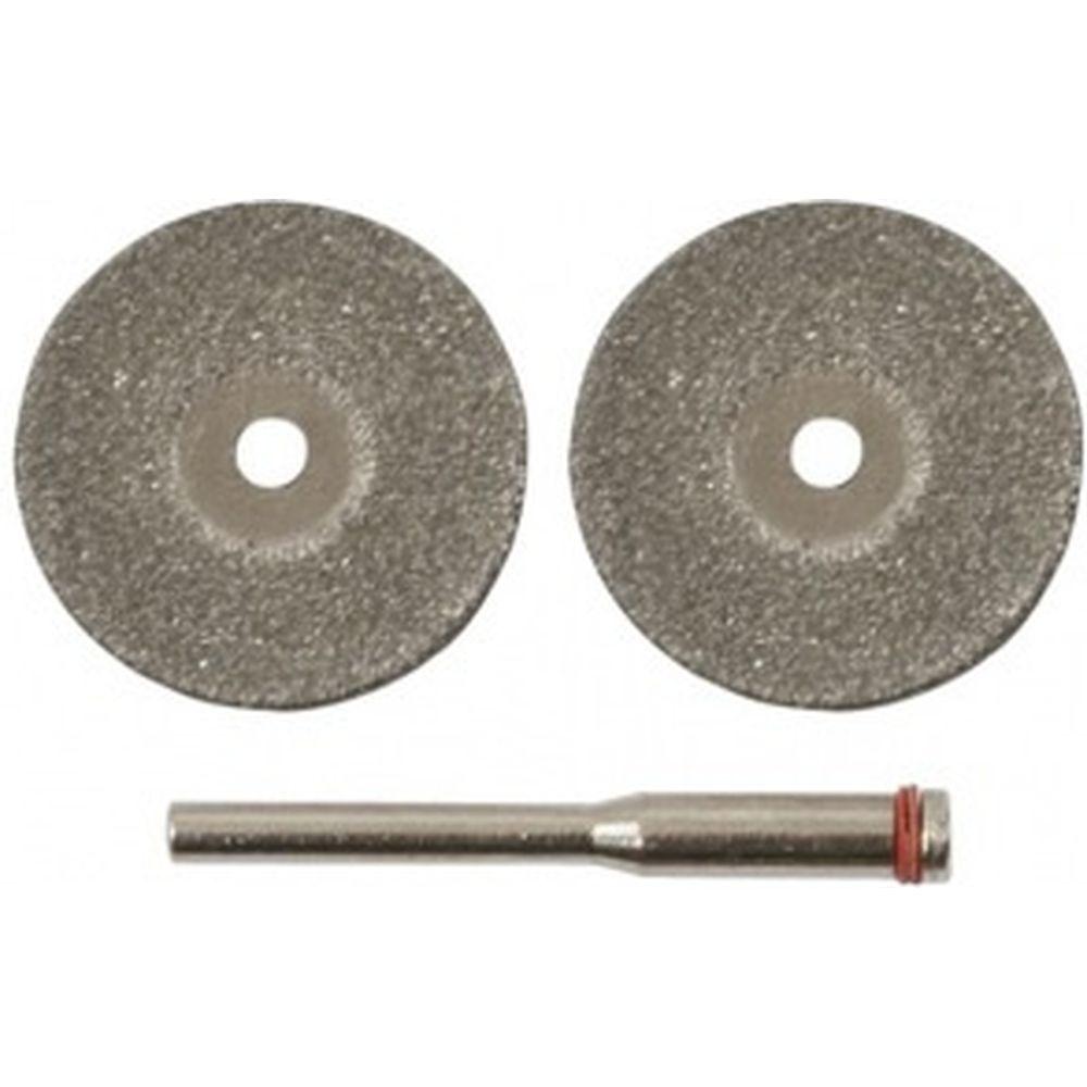 Круги с алмазным напылением (40 мм; 3 мм; 2 шт.) FIT 36932