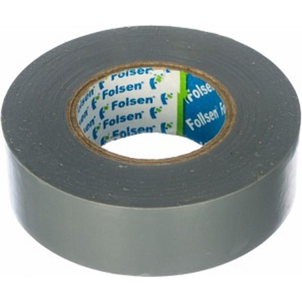 Изоляционная лента Folsen 19ммx20м серая 012506