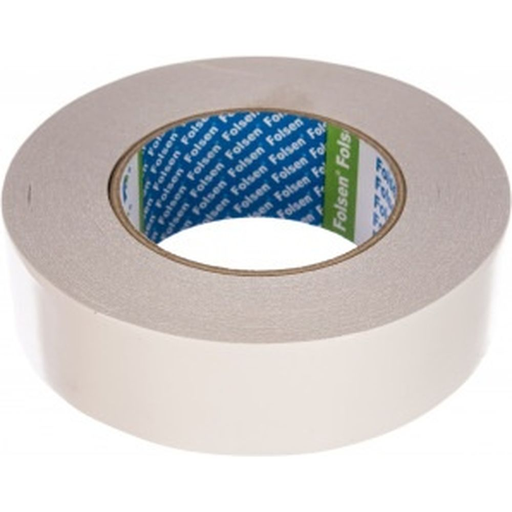 Бумажная двусторонняя лента FOLSEN 38 мм x 50м, Tissue 033385038
