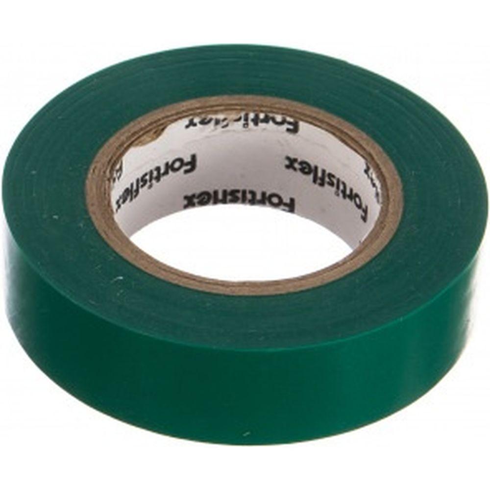 Изолента FORTISFLEX ПВХ 15 ммх0.15 ммх10 м зеленая 71225