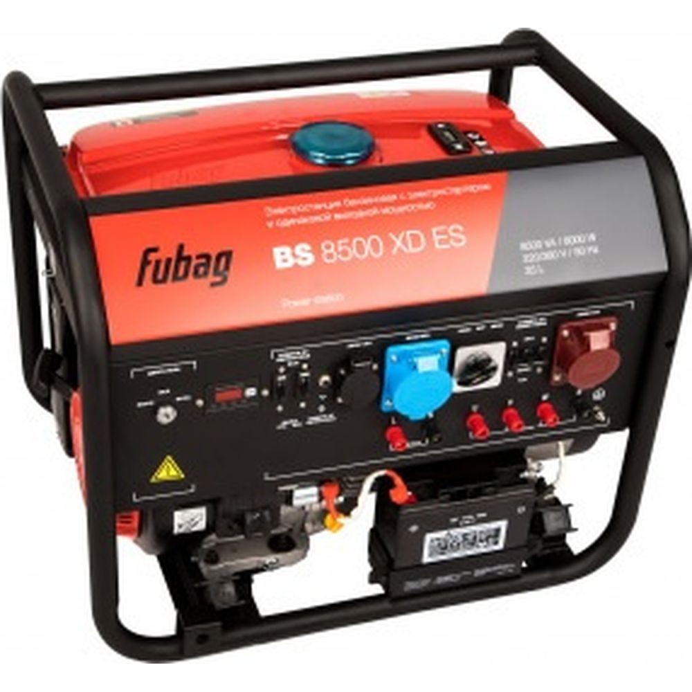 Бензиновая электростанция с электростартером и одинаковой выходной мощностью Fubag BS 8500 XD ES 838255