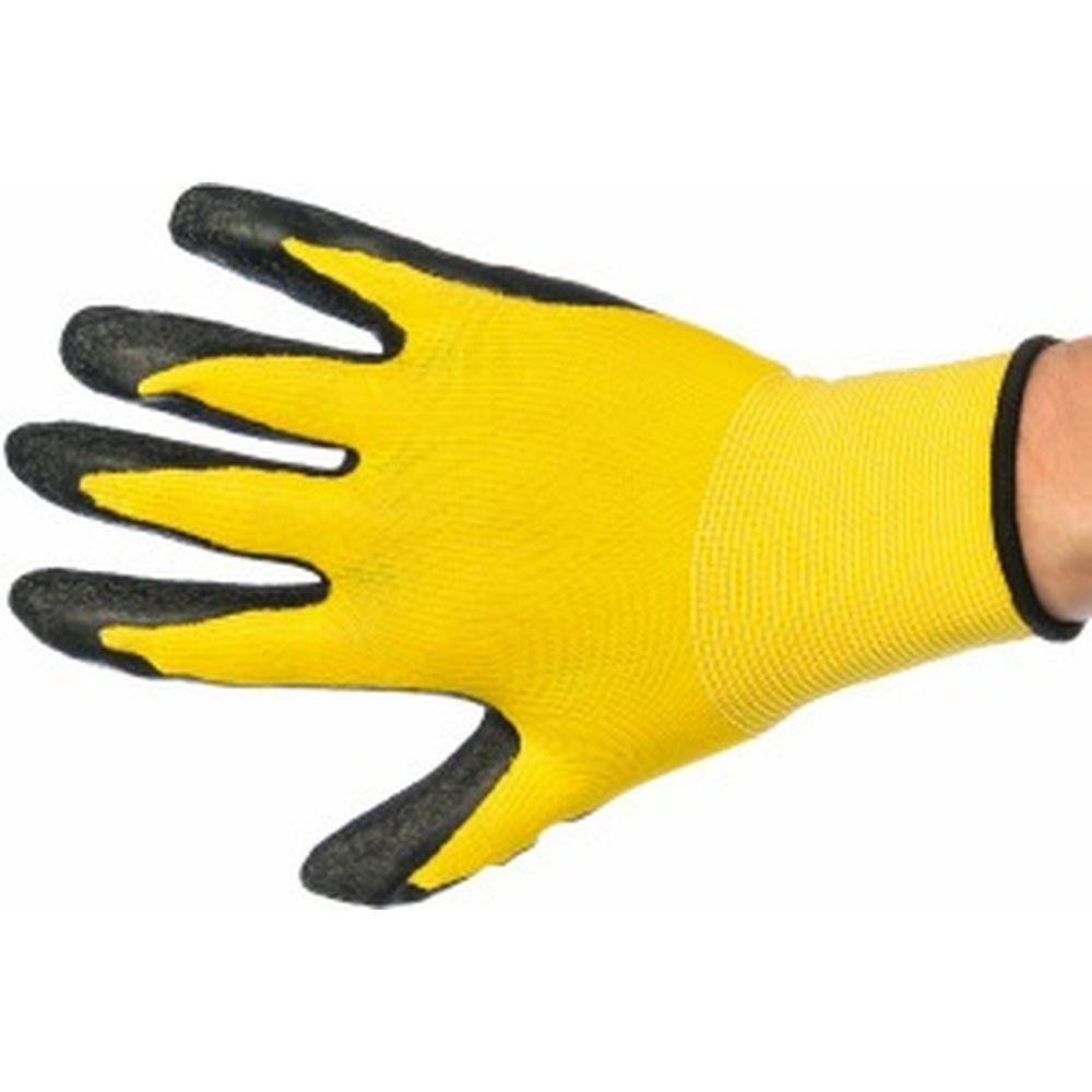 Вязаные нейлоновые перчатки с рельефным латексным покрытием Gigant G-109
